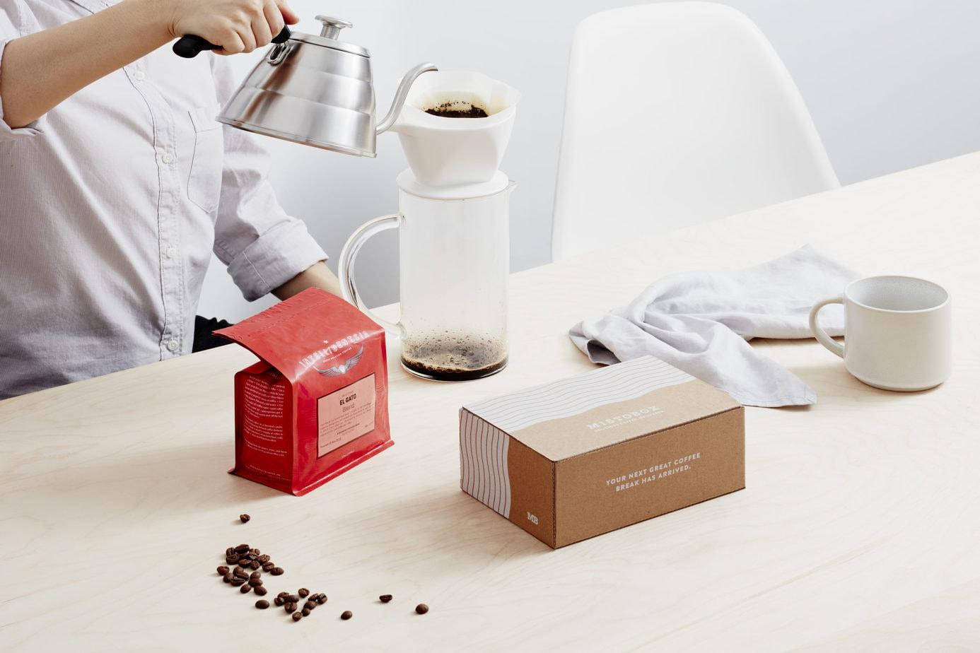 Mistobox Coffee Pouring