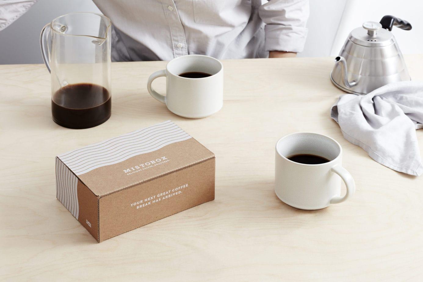 Mistobox Coffee on table