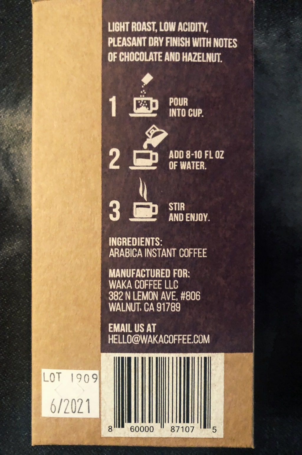 Waka Coffee review brewing
