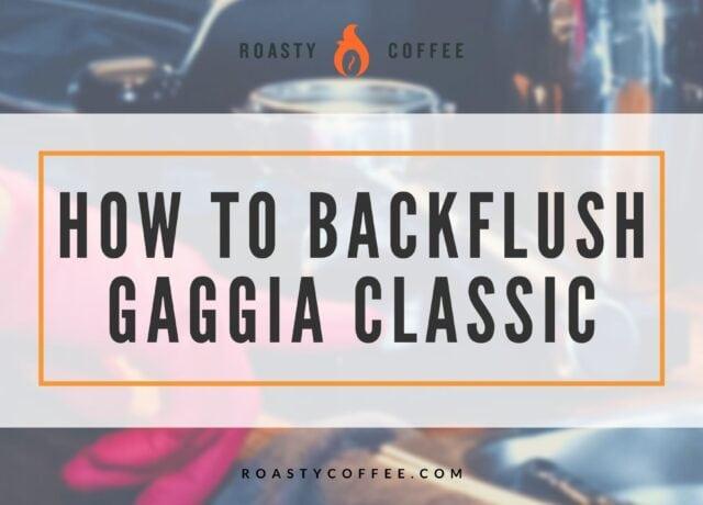 Backflush Gaggia Classic