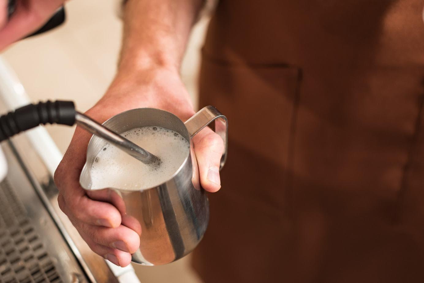 Barista Making Cold Foam