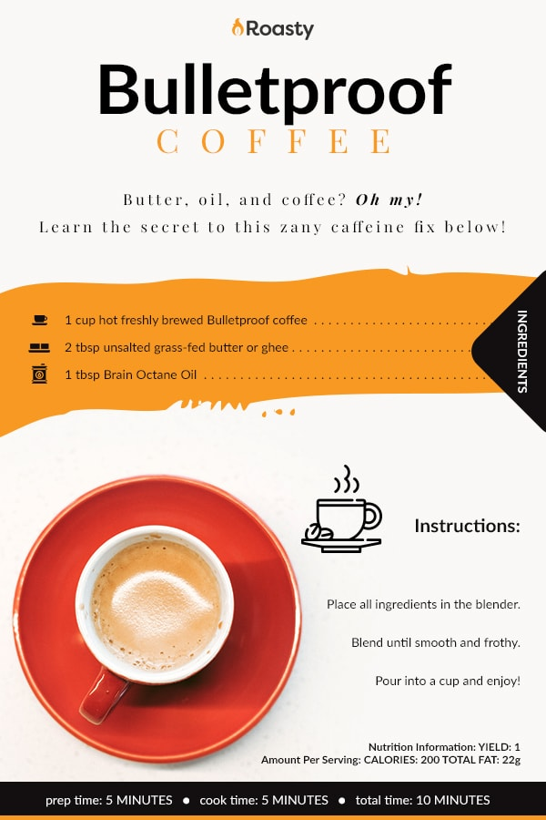 Bulletproof Coffee Recipe Card