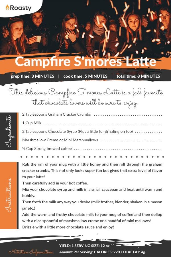 Campfire Smores Latte