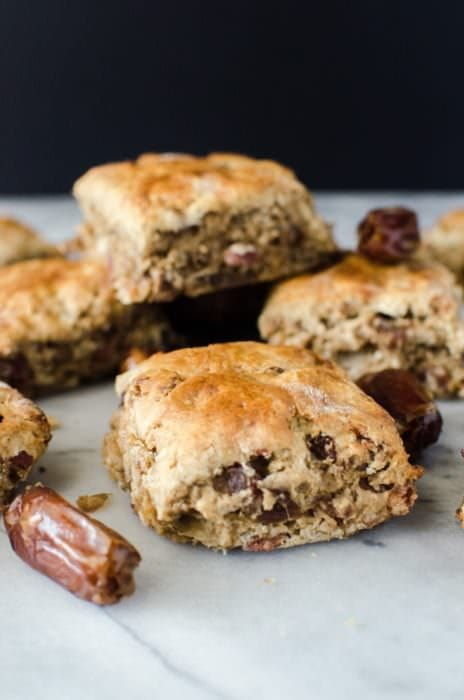 Scones- Coffee, Bacon, and Dates