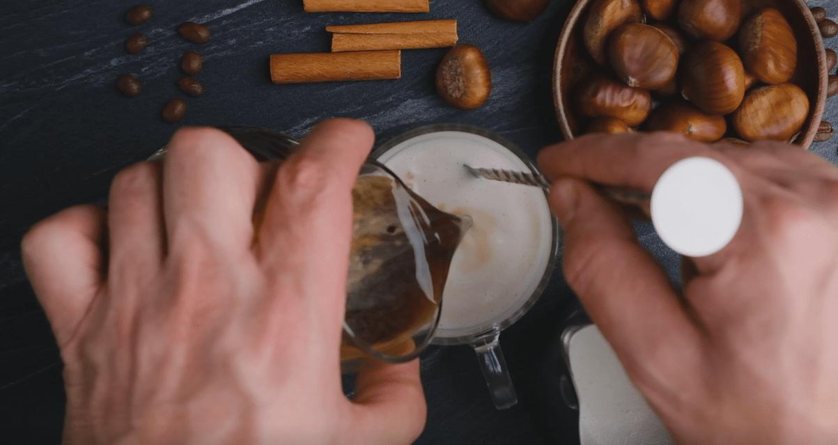 Coffee Into Milk Mixture