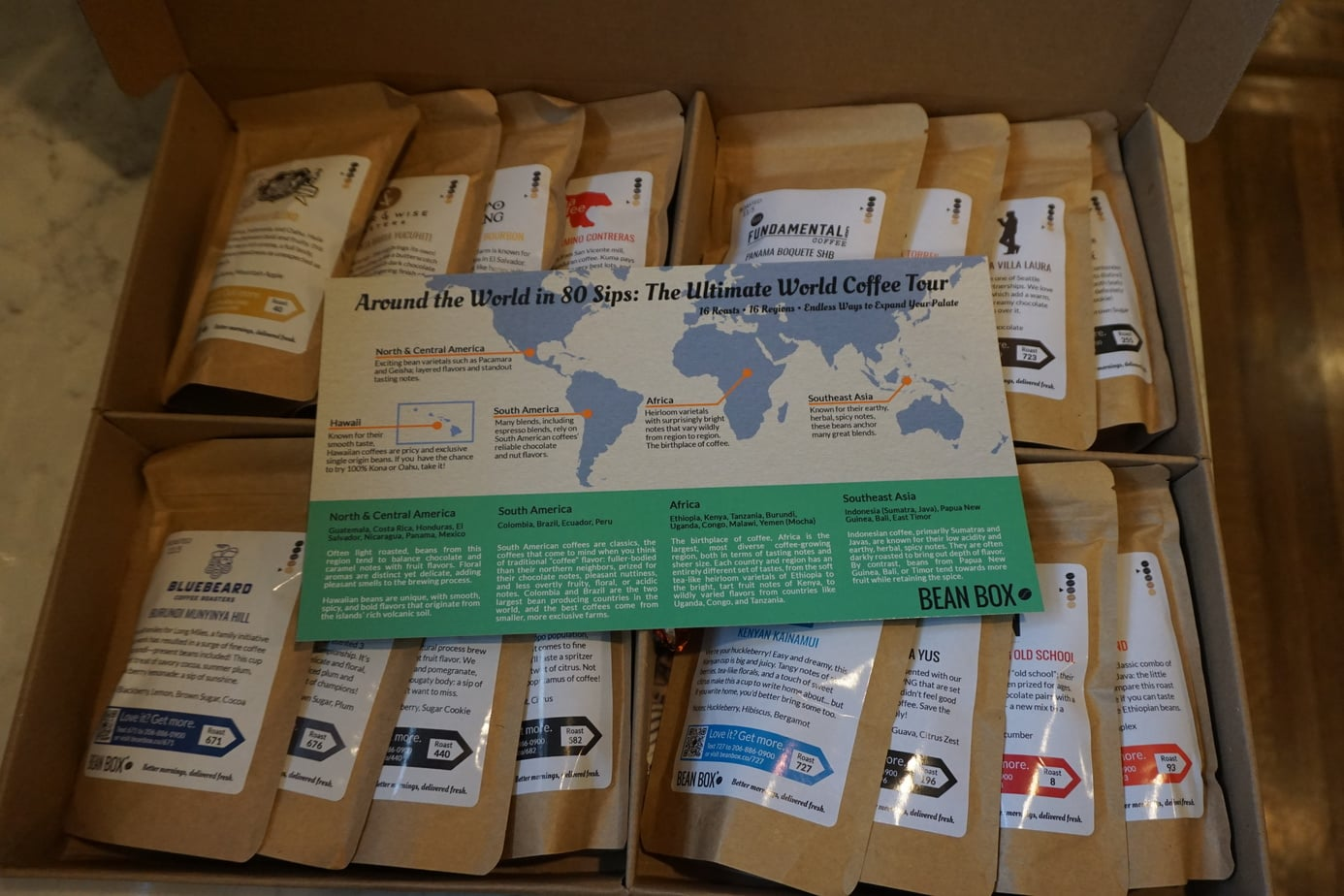 world coffee tour gift box