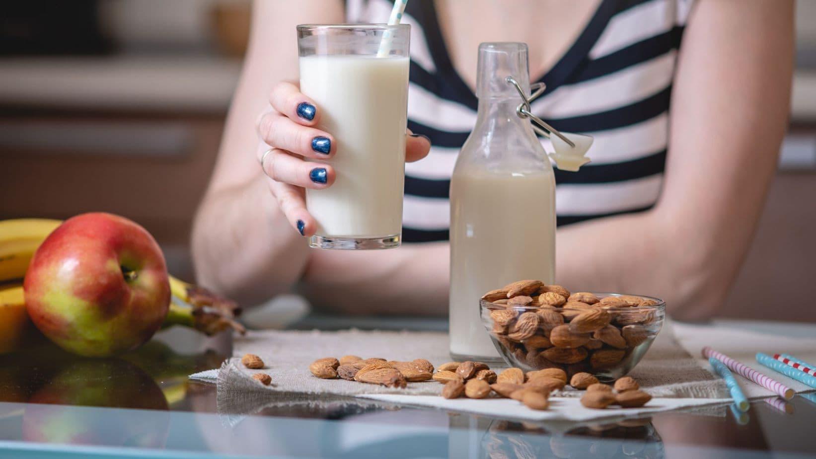 Drinking Almond Curdled Milk