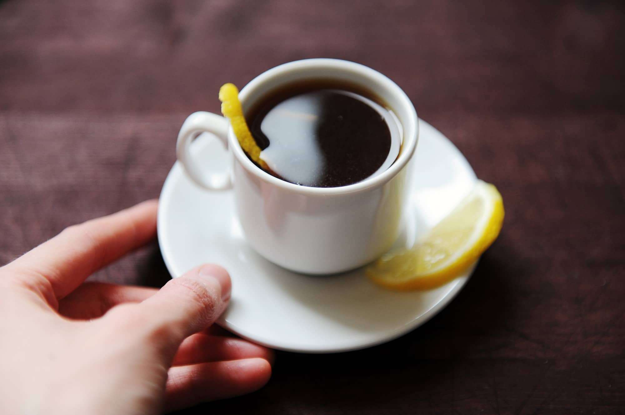 Espresso Romano With Lemon