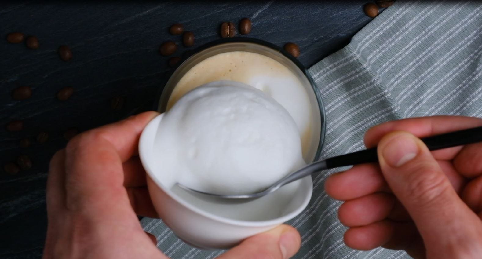 Foam on Cappuccino