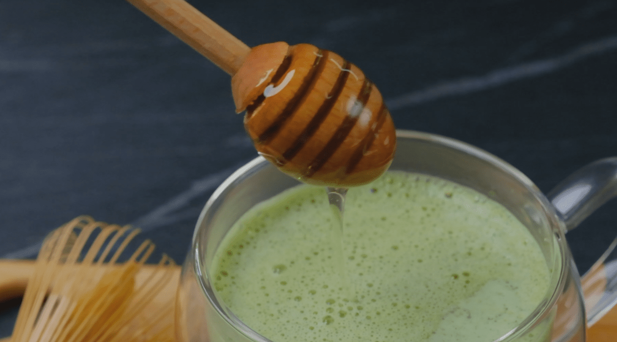 Honey In Matcha Latte