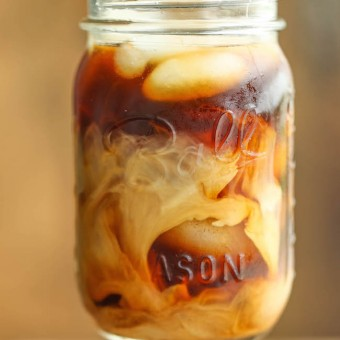 Simple Syrup Vanilla Iced Coffee