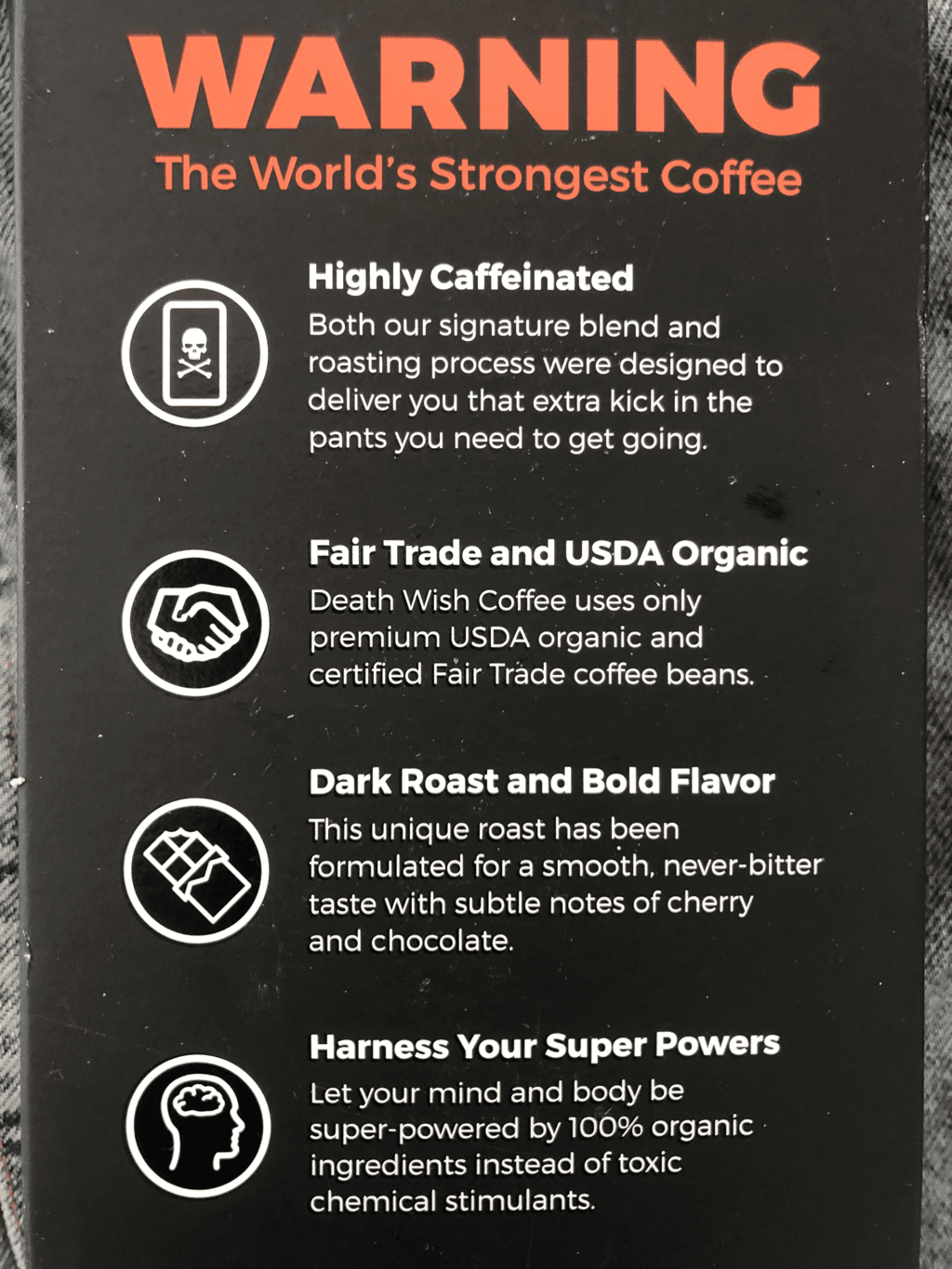 death wish coffee review warning