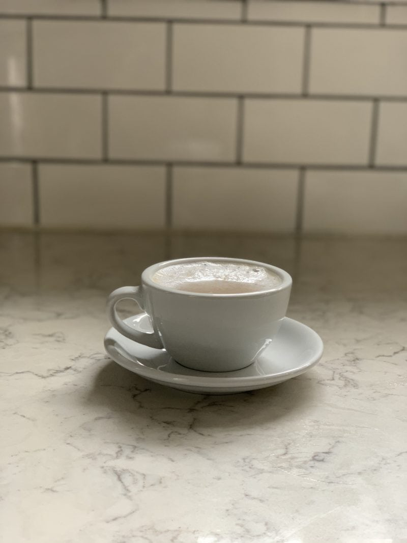 Cappuccino Cup on counter