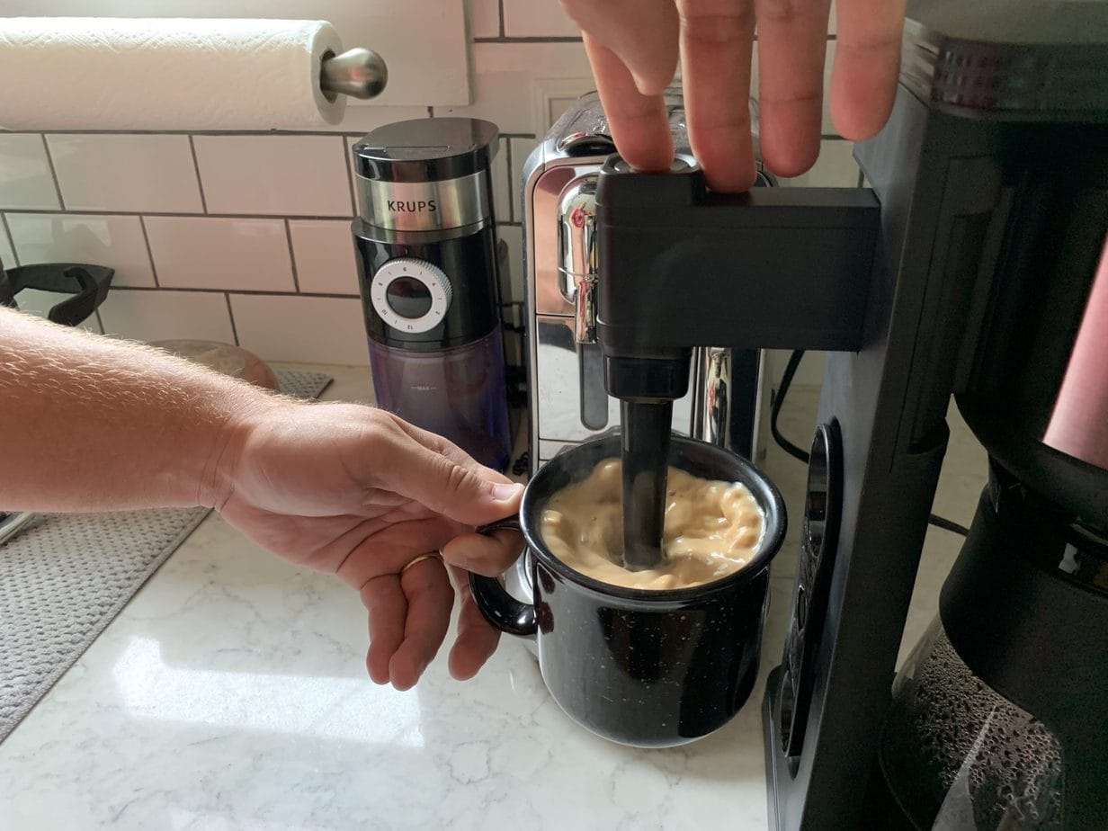 Milk Frother built in to Ninja Hot Cold Brew System