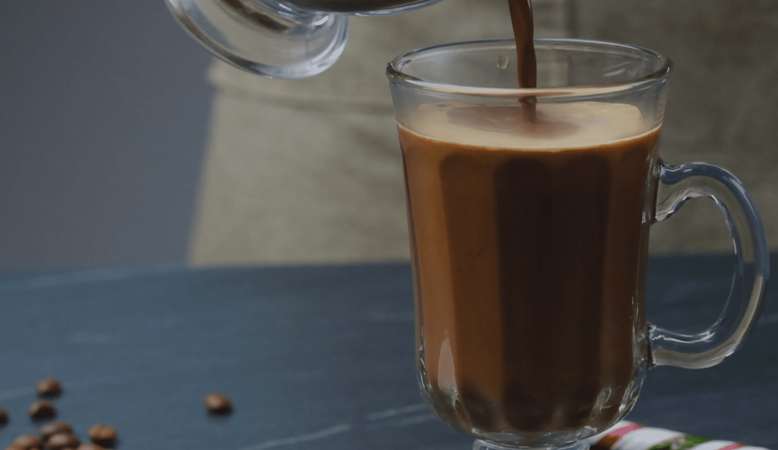 Milk and Coffee Mixture