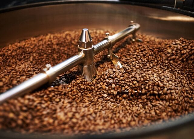 Mixing Coffee Beans