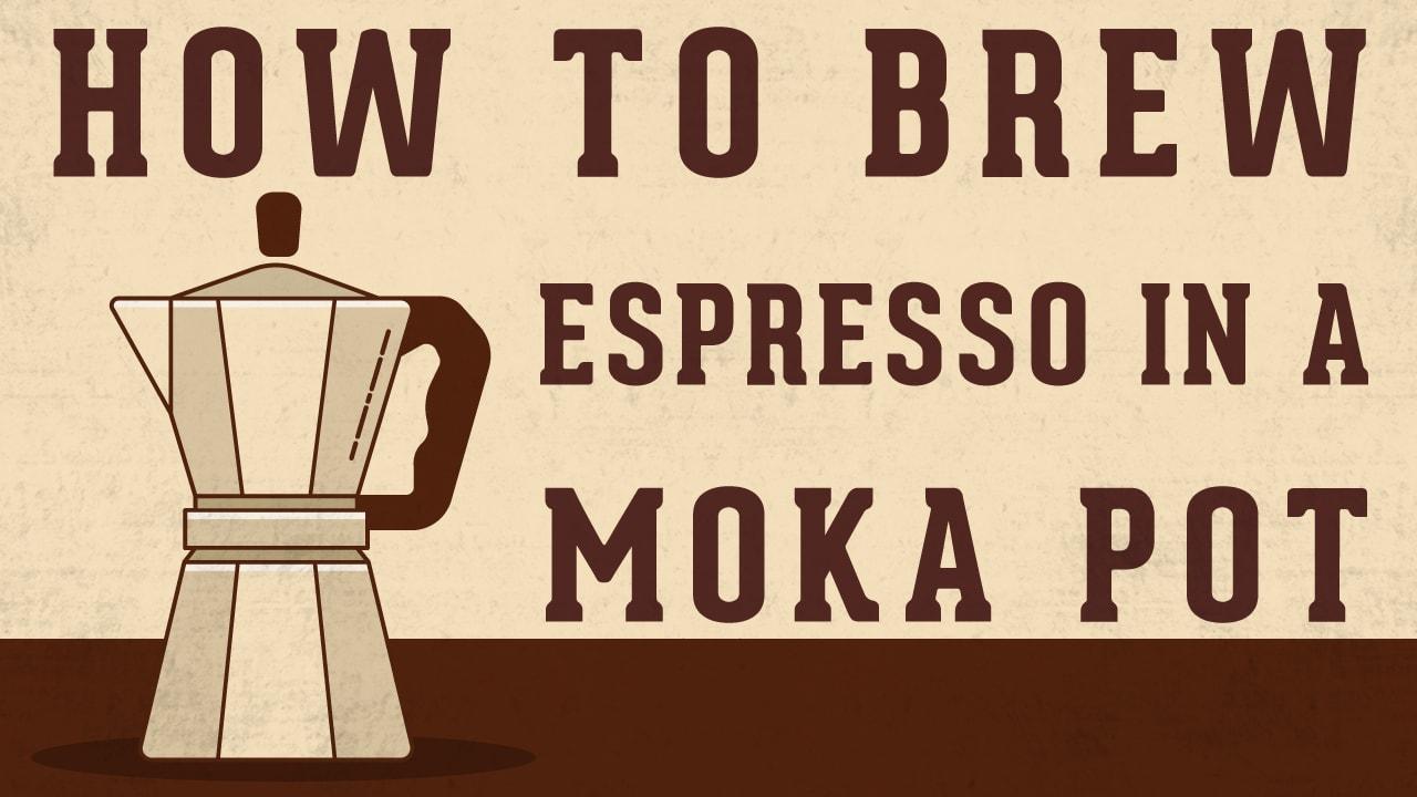 How to make coffee using espresso pot