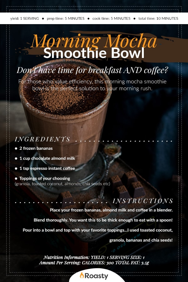 Mocha Smoothie Bowl Recipe