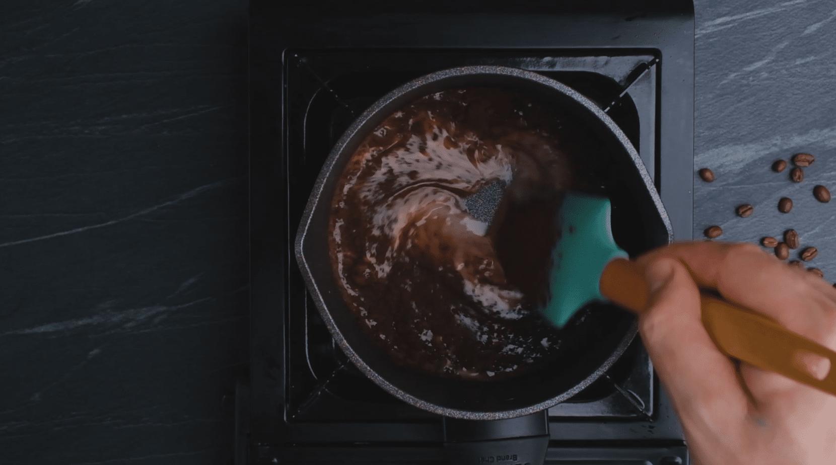 Peppermint Mocha In Saucepan