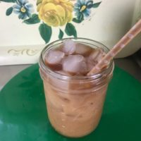 Dirty Iced Chai Latte