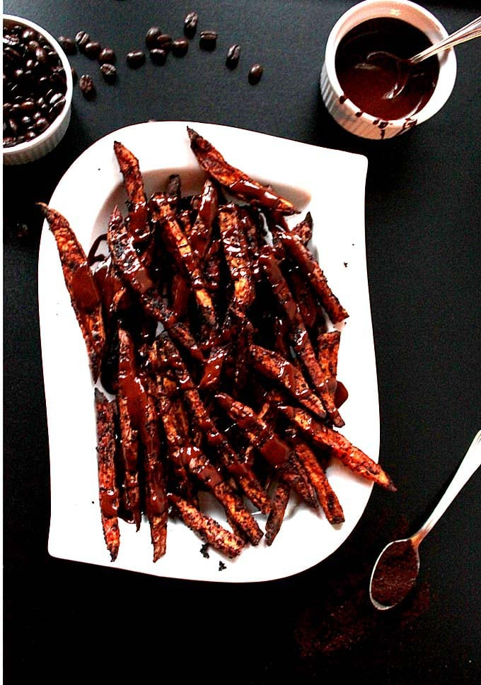 Coffee Roasted Sweet Potato Fries