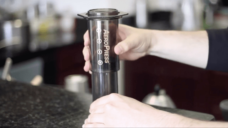 inverted aeropress chamber and plunger