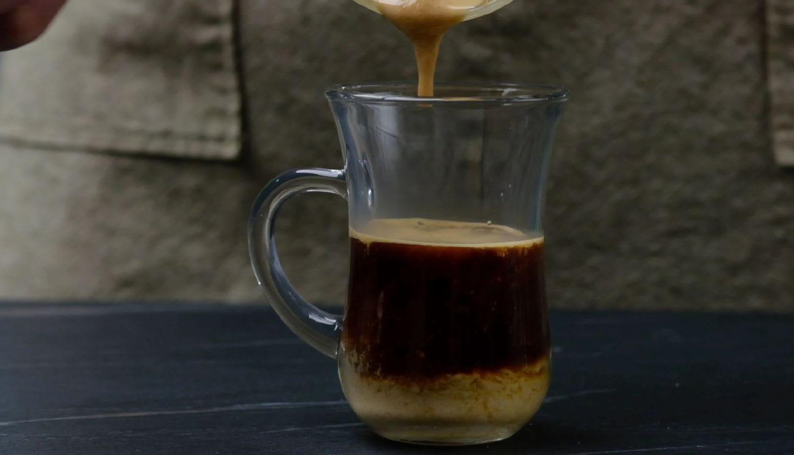 Sugar Foam Over Coffee