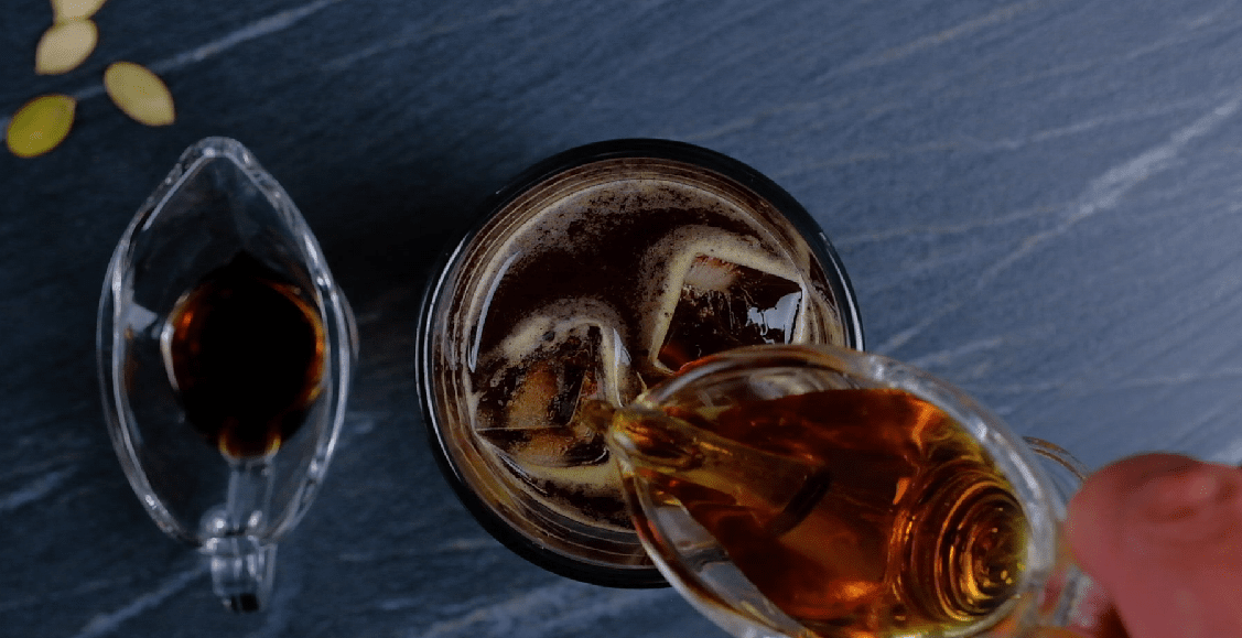 Syrup in coffee