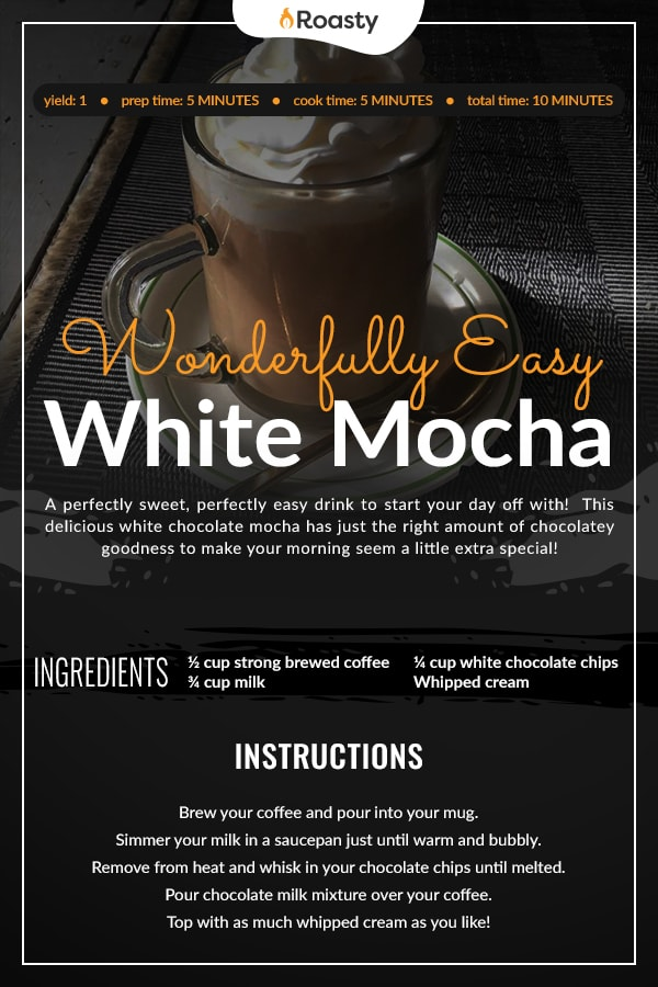 White Mocha Recipe Card
