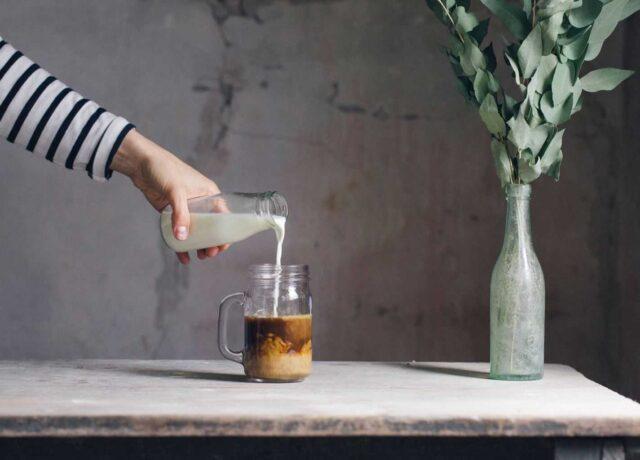 almond milk coffee recipies