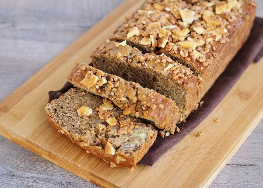 Coffee Banana Bread With Toffee