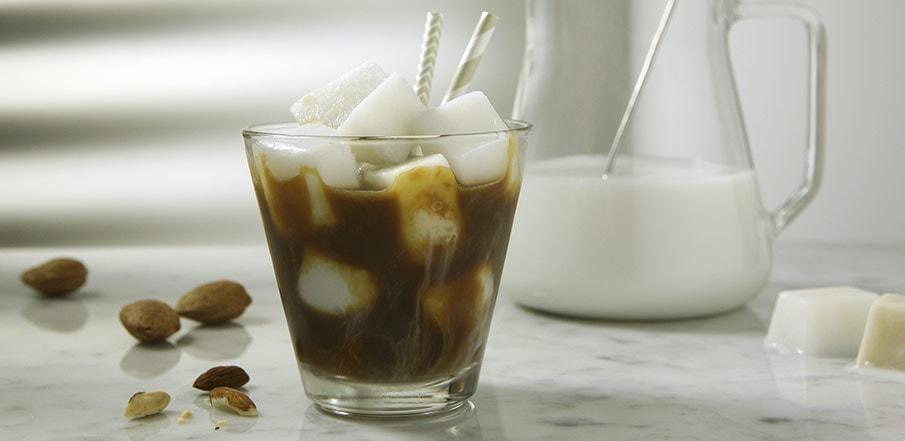 Italian Iced Coffee With A Splash of Almond Milk