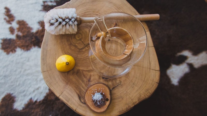 Cleaning Supplies for Chemex Coffee Maker