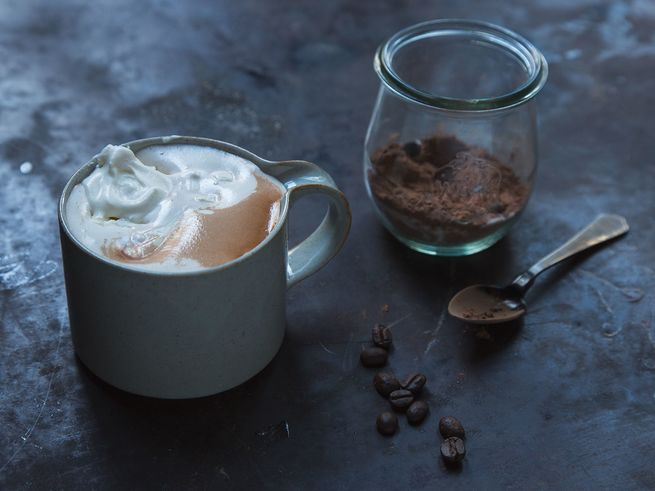 Spiked Instant Coffee Hot Chocolate