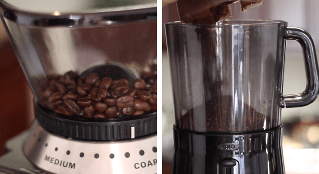 Grind and Add Coffee to Cold Brewer