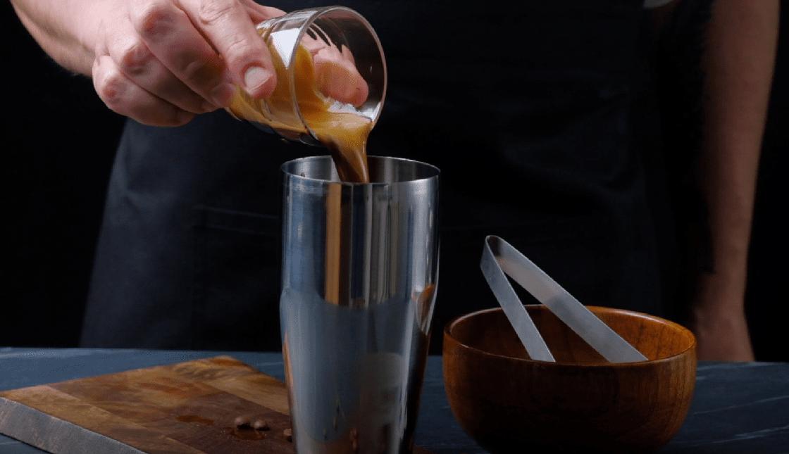 ingredients in shaker