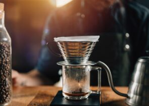 kalita wave dripper in wooden table