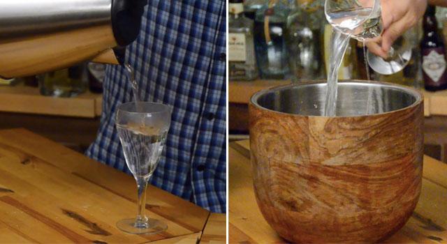 Pre-heat Irish Coffee Glass