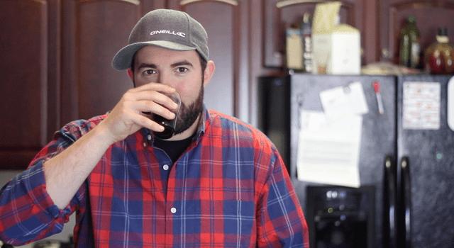 Matt Enjoying Cold Brew Coffee